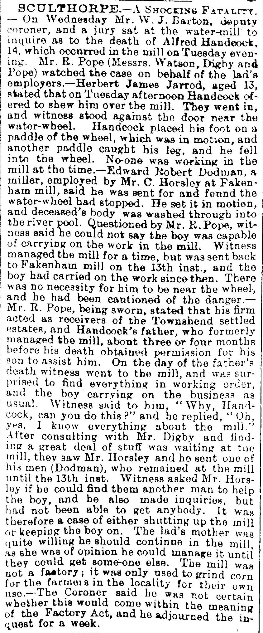 Lynn Advertiser - 26th June 1903