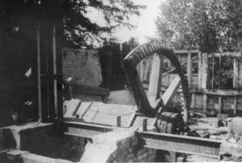Pitwheel remains during demolition in June 1949