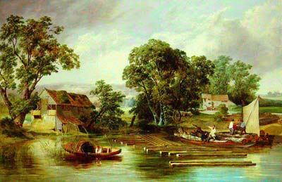 Oil painting by Alfred Priest 1836