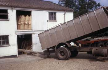 Grain delivery July 1970 just before closure