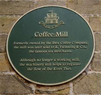Plaque on the mill gable end January 2003
