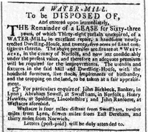 Norfolk Chronicle - 12th February 1791